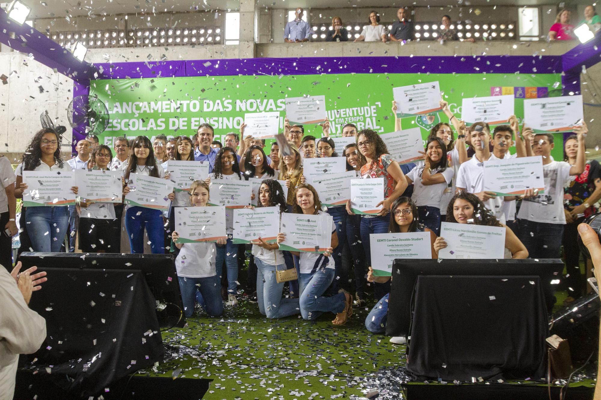 Governo do Ceará anuncia a implantação de 22 novas escolas em tempo integral
