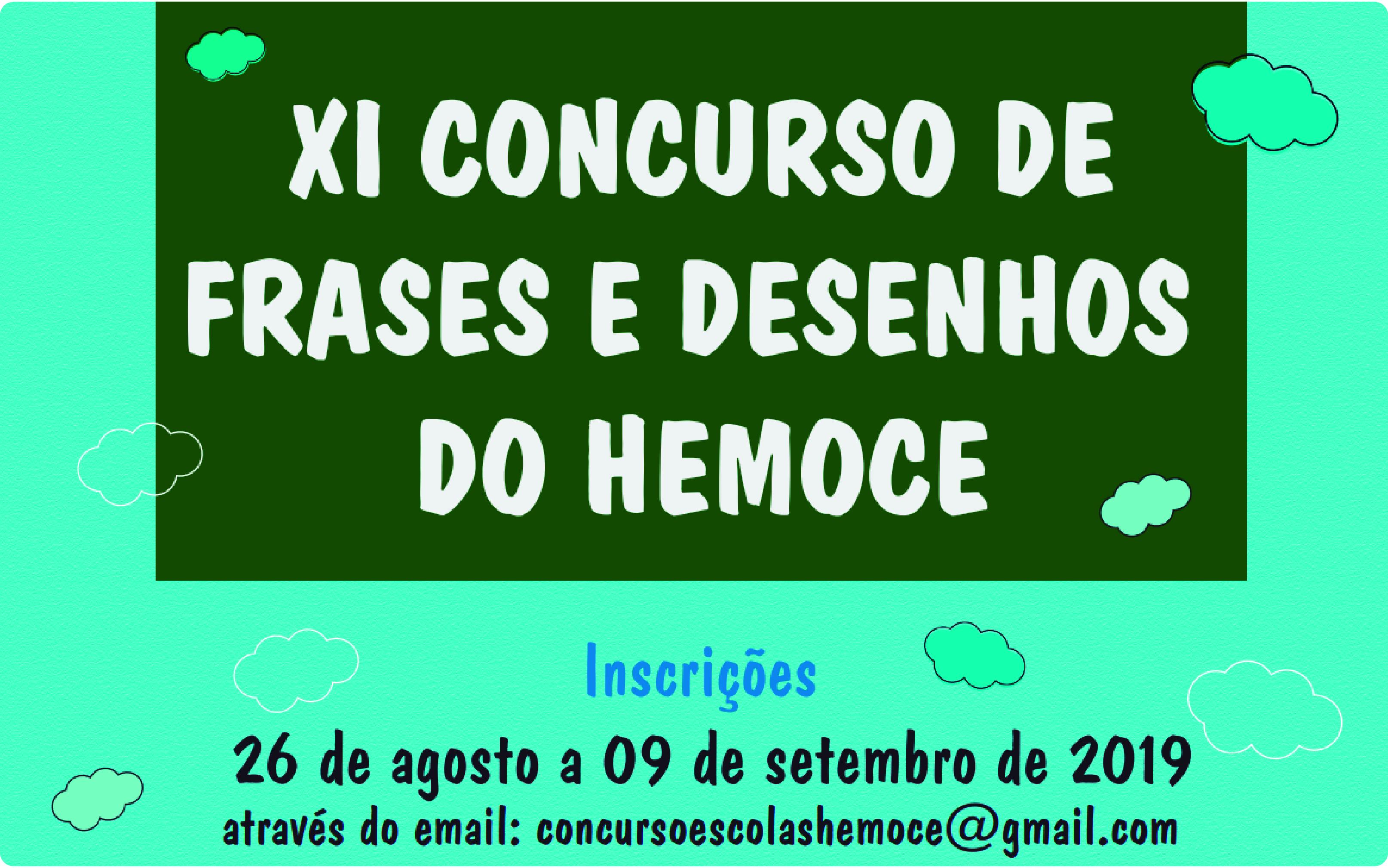 Hemoce segue com inscrições para Concurso de Frases e Desenhos