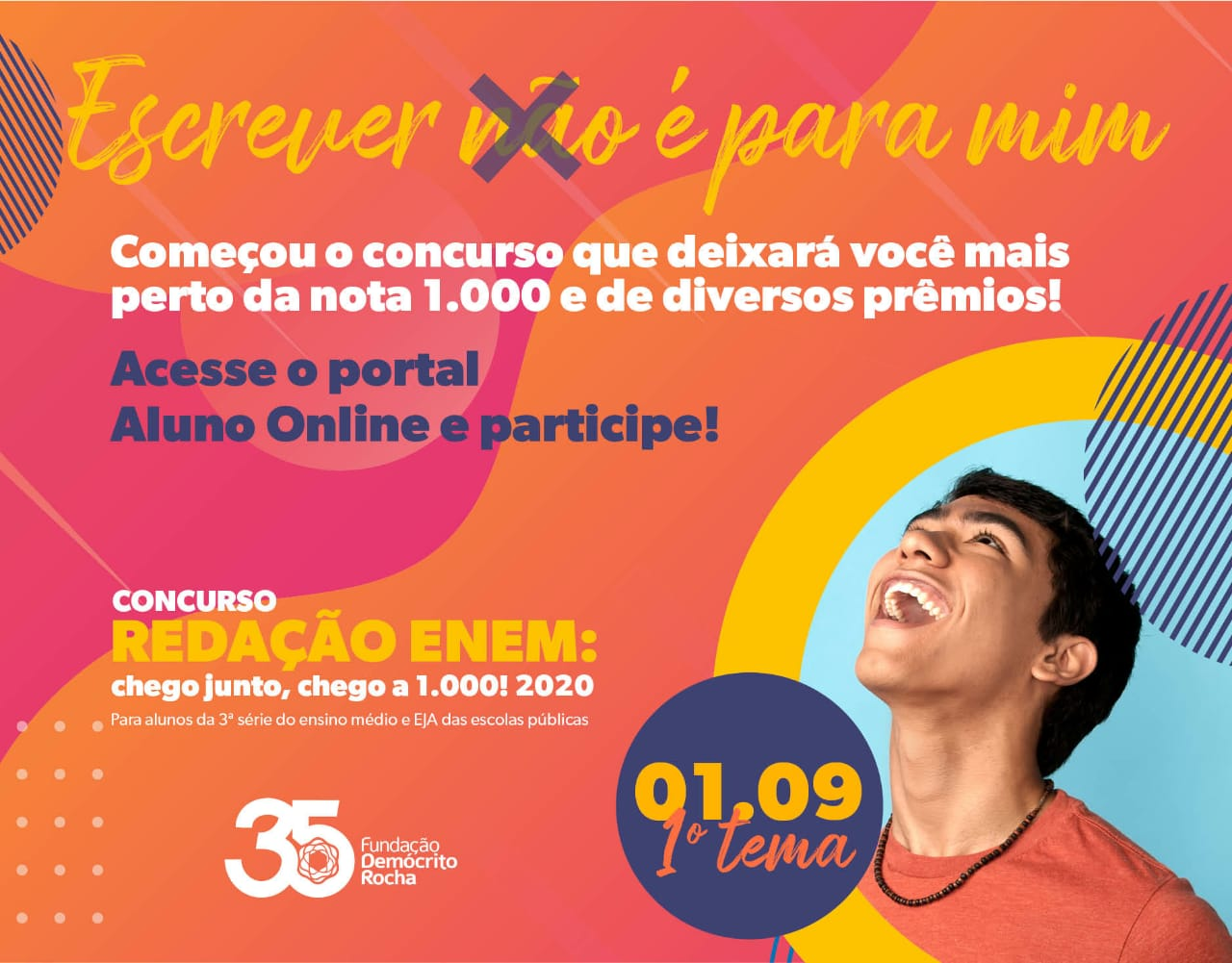 Inscrições para concurso Redação Enem: chego junto, chego a 1.000! começam terça-feira (1º)
