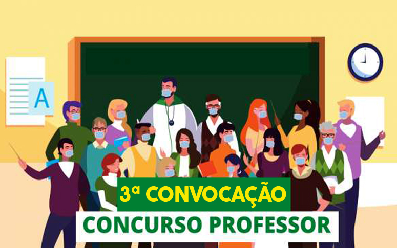 Concurso professor: terceira convocação dos aprovados